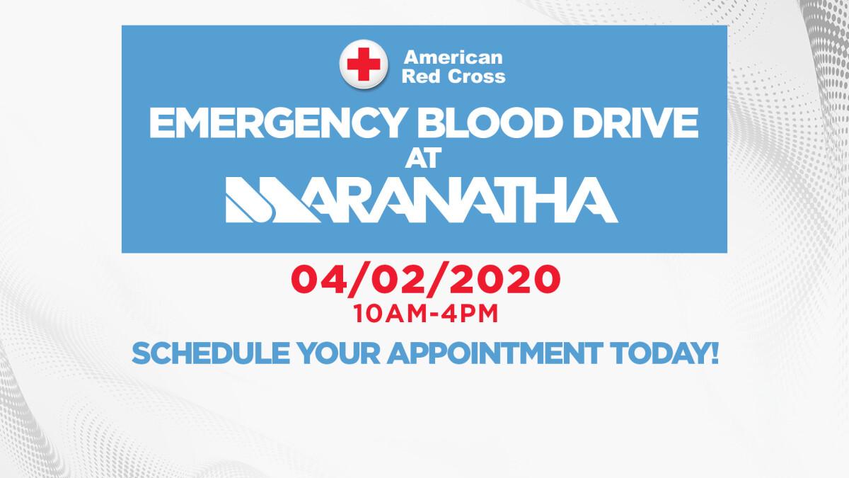EMERGENCY BLOOD DRIVE